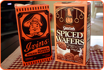 Ivin's and Sweetzels Spiced Wafers
